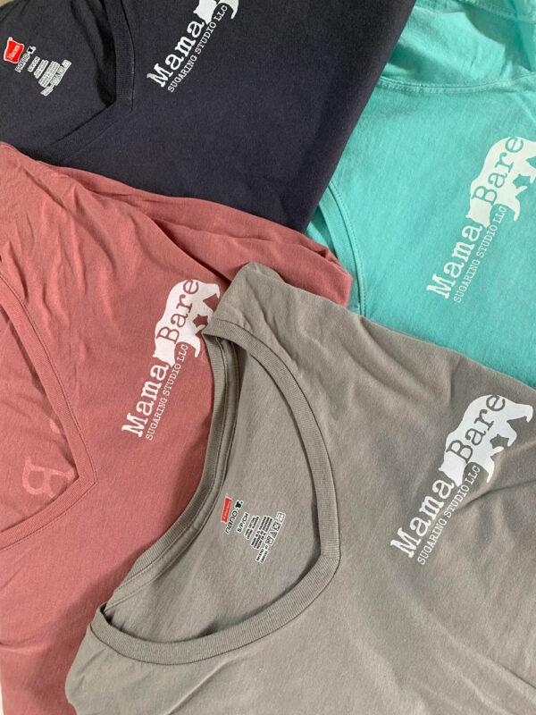 mamabare sugaring t shirts